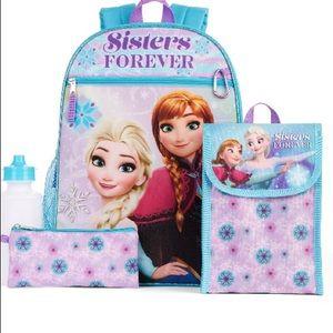 5 Piece Backpack Set Lunch Bag Frozen